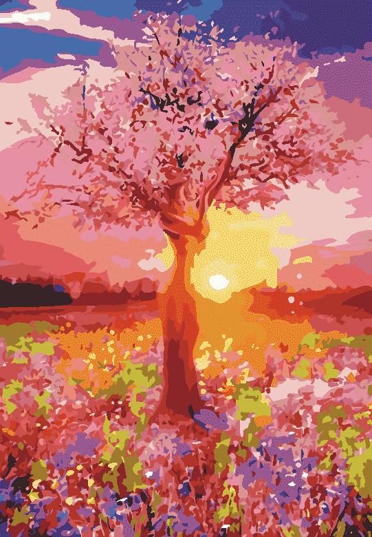 Malowanie po numerach – Kolorowa łąka