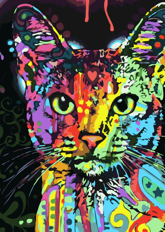 Malowanie po numerach – Kot graffiti