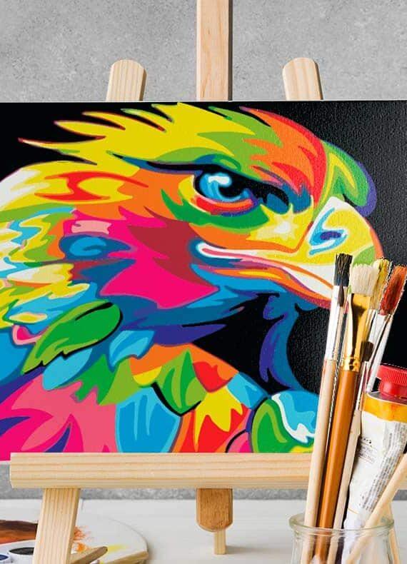 Malowanie po numerach – Orzeł kolorowy