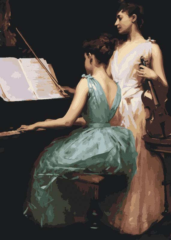 Malowanie po numerach – Lekcja muzyki