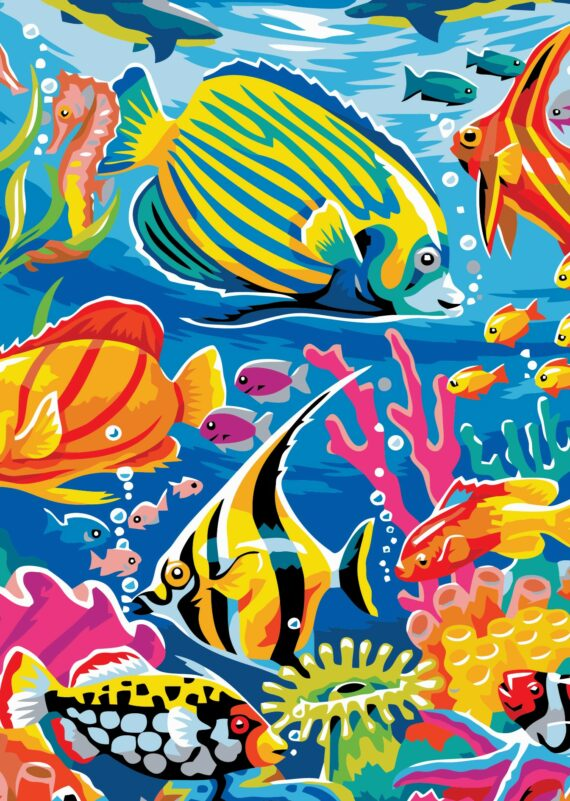 Malowanie po numerach – Morskie życie