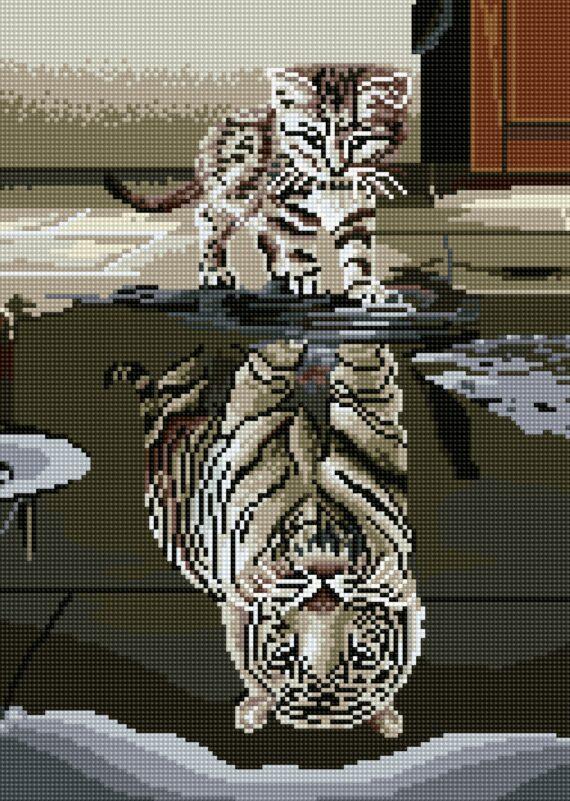 Haft diamentowy – Tygrys